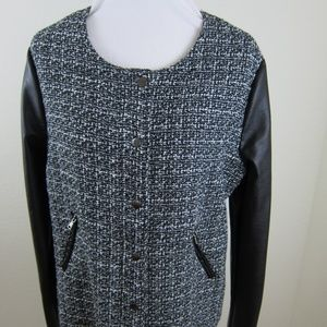 Tart Collections Blazer Jacket Black White XL